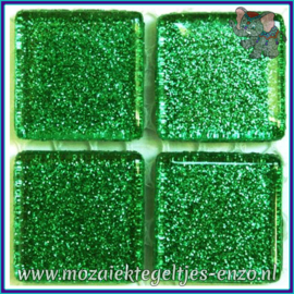Glasmozaiek tegeltjes - Glitter - 2 x 2 cm - Enkele Kleuren - per 20 steentjes - Cloverfield