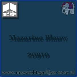 Binnen wandtegel Royal Mosa - Glanzend - 7,5 x 7,5 cm - Op maat gesneden - Mazarine Blauw 20910