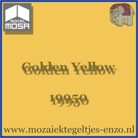 Binnen wandtegel Royal Mosa - Glanzend - 15 x 15 cm - per 1 stuk - Golden Yellow 19950