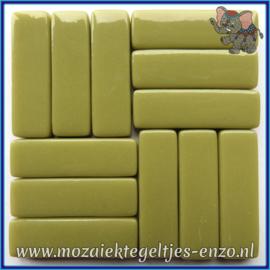 Glasmozaiek steentjes - Stix Rechthoekjes Staafjes XL Normaal - 12 x 38 mm - Enkele Kleuren - per 50 gram - Olive Green