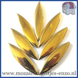 Keramische mozaiek steentje - Keramiek Petals Bloemblad XL Normaal - 15/60 mm - Enkele Kleuren - per 1 stuk - Gold