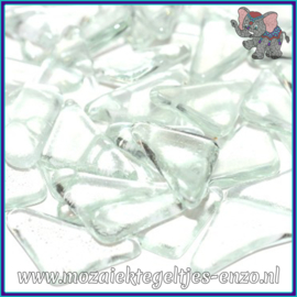 Glasmozaiek steentjes - Soft Glass Puzzles Normaal - Enkele Kleuren - per 50 gram - Clear Diamand