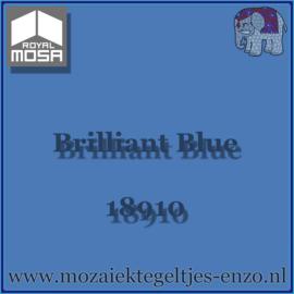 Binnen wandtegel Royal Mosa - Glanzend - 7,5 x 7,5 cm - Op maat gesneden - Brilliant Blue 18910