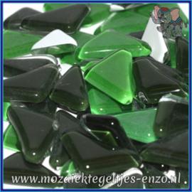 Glasmozaiek steentjes - Soft Glass Puzzles Normaal - Gemixte Kleuren - per 50 gram - Conifer Green