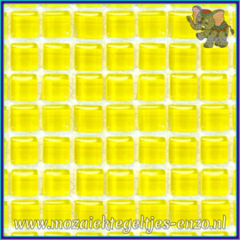 Glasmozaiek tegeltjes - Murrini Crystal - 1 x 1 cm - Enkele Kleuren - per 60 steentjes - Mini Citrus Yellow
