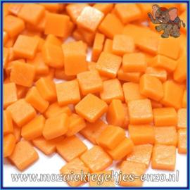 Glasmozaiek Pixel steentjes - Ottoman Matte - 0,8 x 0,8 cm - Enkele Kleuren - per 50 gram - Orange Opal