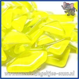 Glasmozaiek steentjes - Soft Glass Puzzles Normaal - Enkele Kleuren - per 50 gram - Citrus Yellow