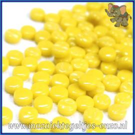 Glasmozaiek Pixel steentjes - Darling Dotz Normaal - 0,8 cm - Enkele Kleuren - per 50 gram - Opal Yellow