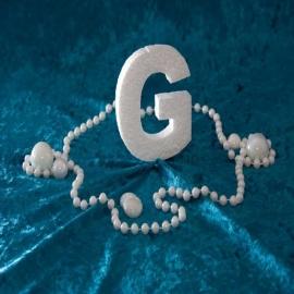 Piepschuim/Styropor - Letter G