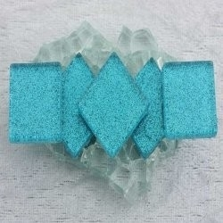 "- Glitter 2 x 2 cm - Aztec-Turquoise-""S"""