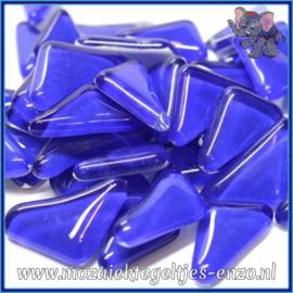 Glasmozaiek steentjes - Soft Glass Puzzles Normaal - Enkele Kleuren - per 50 gram - Cobalt Stone
