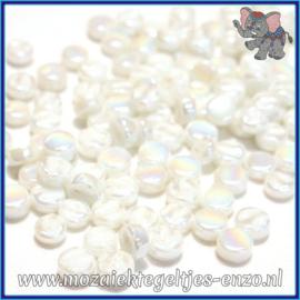 Glasmozaiek Pixel steentjes - Darling Dotz Parelmoer - 0,8 cm - Enkele Kleuren - per 50 gram - White