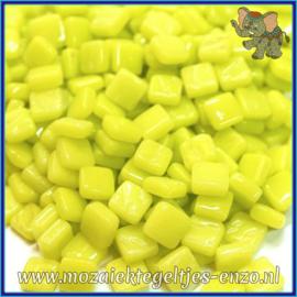 Glasmozaiek Pixel steentjes - Ottoman Normaal - 0,8 x 0,8 cm - Enkele Kleuren - per 50 gram - Yellow Green