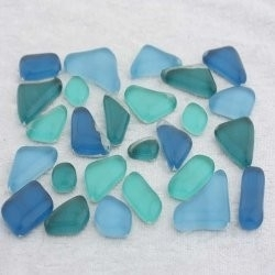 "- Glass Puzzles 50 g - Fernhead-Teal-""S"""