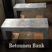 Betonnen ondergrond - Bank 155 cm