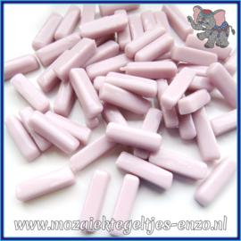 Glasmozaiek steentjes - Stix Rechthoekjes Staafjes Normaal - 6 x 20 mm - Enkele Kleuren - per 50 gram - Delicate Pink
