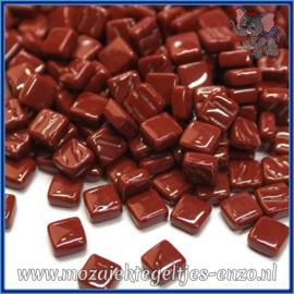 Glasmozaiek Pixel steentjes - Ottoman Normaal - 0,8 x 0,8 cm - Enkele Kleuren - per 50 gram - Bordeaux