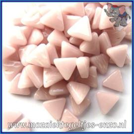 Glasmozaiek steentjes - Art Angles Normaal - 10 mm - Enkele Kleuren - per 50 gram - Pale Pink