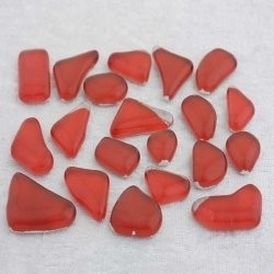 "- Glass Puzzles 50 g - Poppy-Red-""S"""