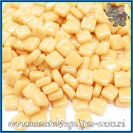 Glasmozaiek Pixel steentjes - Ottoman Normaal - 0,8 x 0,8 cm - Enkele Kleuren - per 50 gram - Cream