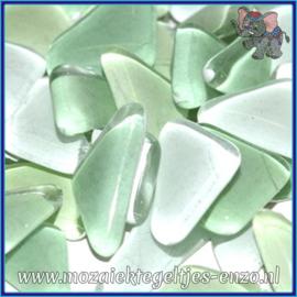 Glasmozaiek steentjes - Soft Glass Puzzles Normaal - Gemixte Kleuren - per 50 gram - Baby Leaf Green