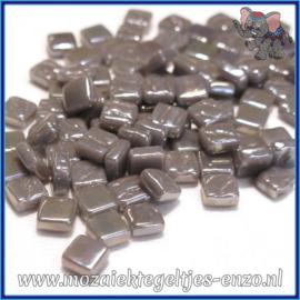 Glasmozaiek Pixel steentjes - Ottoman Parelmoer - 0,8 x 0,8 cm - Enkele Kleuren - per 50 gram - Deep Grey
