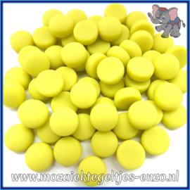 Glasmozaiek steentjes - Optic Drops Matte - 12 mm - Enkele Kleuren - per 50 gram - Yellow
