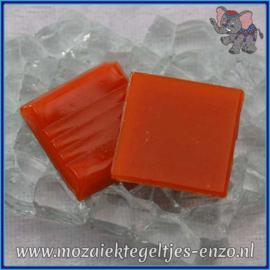 Glasmozaiek tegeltjes - Basic Line - 2 x 2 cm - Enkele Kleuren - per 20 steentjes - Dark Orange A95