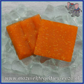 Glasmozaiek tegeltjes - Basic Line - 2 x 2 cm - Enkele Kleuren - per 20 steentjes - Mandarin A93