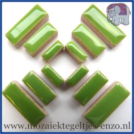 Keramische mozaiek steentjes - Keramiek Rectangles Rechthoekjes Normaal - 4, 6 en 10 mm - Enkele Kleuren - per 50 gram - Kiwi