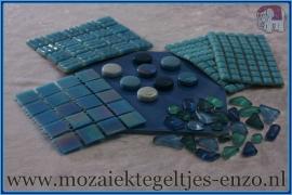 Mozaiek Kleur Pakket  Parelmoer - Blauw