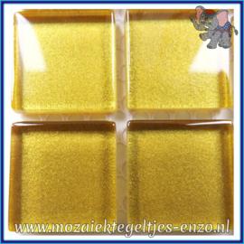 Glasmozaiek tegeltjes - Glitter - 2 x 2 cm - Enkele Kleuren - per 20 steentjes - Golden Treasure