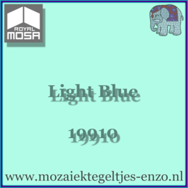 Binnen wandtegel Royal Mosa - Glanzend - 7,5 x 7,5 cm - Op maat gesneden - Light Blue 19910