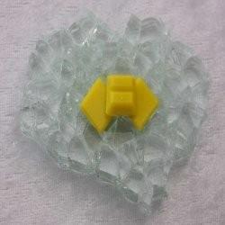 "- Vitreous 1 x 1 cm - Mini Bright-Yellow-""S"""