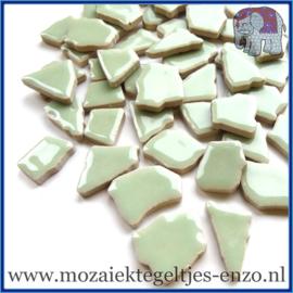 Keramische mozaiek steentjes - Keramiek Puzzel Stukjes Normaal - Enkele Kleuren - per 50 gram - Celadon