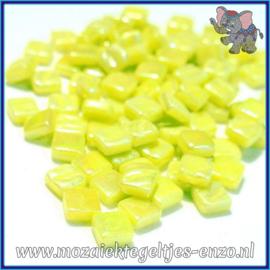 Glasmozaiek Pixel steentjes - Ottoman Parelmoer - 0,8 x 0,8 cm - Enkele Kleuren - per 50 gram - Yellow Green