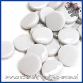 Glasmozaiek steentjes - Penny Rounds Normaal - 18 mm - Enkele Kleuren - per 50 gram - Pale Grey