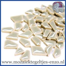 Keramische mozaiek steentjes - Keramiek Puzzel Stukjes Normaal - Enkele Kleuren - per 50 gram - Dove Grey