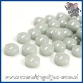 Glasmozaiek steentjes - Optic Drops Normaal - 12 mm - Enkele Kleuren - per 50 gram - Pale Grey