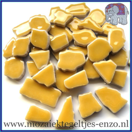 Keramische mozaiek steentjes - Keramiek Puzzel Stukjes Normaal - Enkele Kleuren - per 50 gram - Yellow Pepper