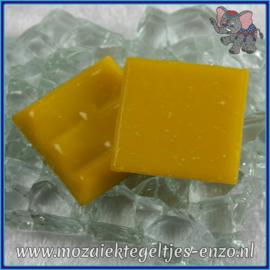 Glasmozaiek tegeltjes - Basic Line - 2 x 2 cm - Enkele Kleuren - per 20 steentjes - Sharp Yellow A91