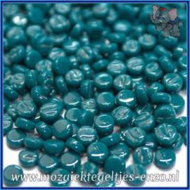 Glasmozaiek Pixel steentjes - Darling Dotz Normaal - 0,8 cm - Enkele Kleuren - per 50 gram - Dark Teal