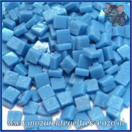Glasmozaiek Pixel steentjes - Ottoman Matte - 0,8 x 0,8 cm - Enkele Kleuren - per 50 gram - Opal Turquoise