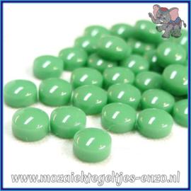 Glasmozaiek steentjes - Optic Drops Normaal - 12 mm - Enkele Kleuren - per 50 gram - Meadow Green