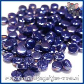 Glasmozaiek Pixel steentjes - Darling Dotz Parelmoer - 0,8 cm - Enkele Kleuren - per 50 gram - Royal Blue