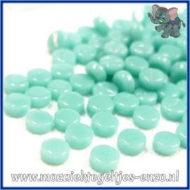 Glasmozaiek Pixel steentjes - Darling Dotz Normaal - 0,8 cm - Enkele Kleuren - per 50 gram - Pale Teal