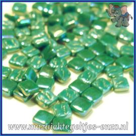 Glasmozaiek Pixel steentjes - Ottoman Parelmoer - 0,8 x 0,8 cm - Enkele Kleuren - per 50 gram - Pine