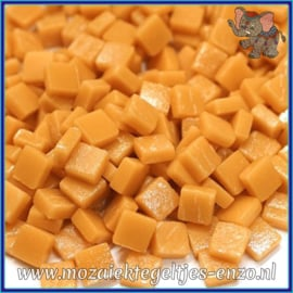 Glasmozaiek Pixel steentjes - Ottoman Matte - 0,8 x 0,8 cm - Enkele Kleuren - per 50 gram - Toffee