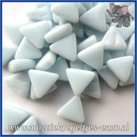 Glasmozaiek steentjes - Art Angles Normaal - 10 mm - Enkele Kleuren - per 50 gram - Baby Aqua Blue