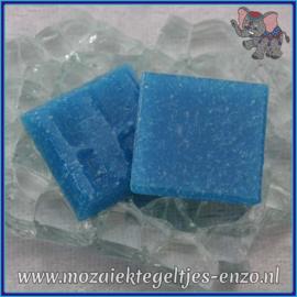 Glasmozaiek tegeltjes - Basic Line - 2 x 2 cm - Enkele Kleuren - per 20 steentjes - Deep Turquoise A15